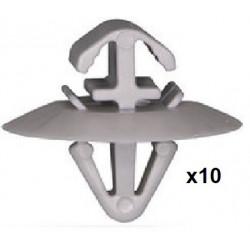 10x Clips Panneau de Porte - Iveco Daily Opel Movano Renault Kangoo Master Trafic VCF1740*10