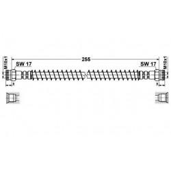 Flexible de Frein Arriere - Peugeot 205 longueur 275mm 19018157
