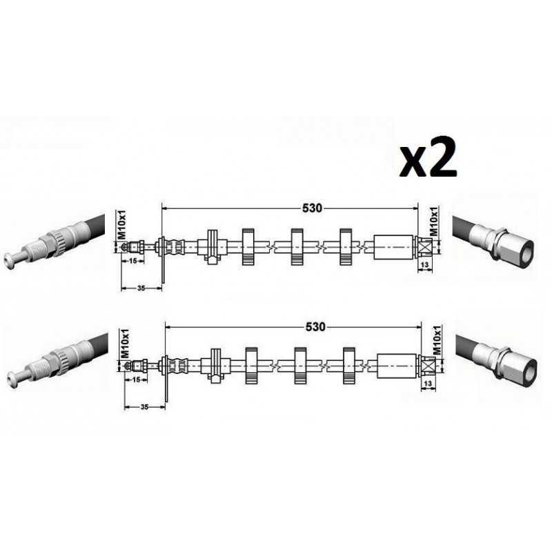 2x flexible avant droite//gauche Citroën peugeot