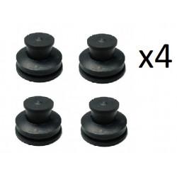 4x Clips de Fixation Cache Sous Moteur - Citroen C4 C5 C8 Peugeot 307 308 407 508 607 2.0 Hdi 16V 013793 *4