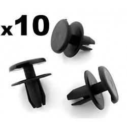 10x Clips de Fixation Pare Choc Avant - Opel Astra G VCF3*10
