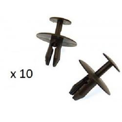 10x Clips de Fixation Panneau de Porte - Citroen Peugeot
