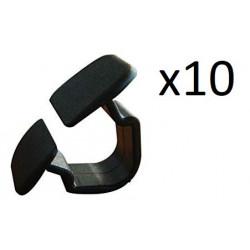 10x Clips de Fixation Capot - Audi Vw VCF2387 *10