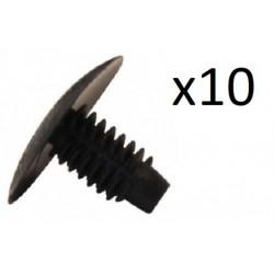 10x Clips de Fixation Radiateur - Dacia Renault Peugeot VCF267 *10