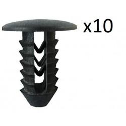 10x Clips de Fixation Pare Choc - Fiat VCF16 *10