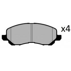 4x Plaquettes de Frein - Citroen C4 Mitsubishi Asx Lancer Outlander Peugeot 4008