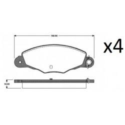 4x Plaquettes de Frein Avant - PEUGEOT 406 - 605 CITROEN XM - XANTIA 2659.04