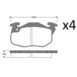 4x Plaquettes de Frein Avant - Renault Super 5 - Express 9415