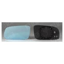 Glace de Rétroviseur Bleu Gauche + Support - A3 A4 A6 A8 10217