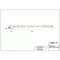 Capteur Abs Arriere - Citroen Xsara Peugeot 306 Disques BF-204003