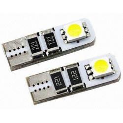 Lot de deux ampoules de veilleuses à LED ( style xénon ) w5w t10