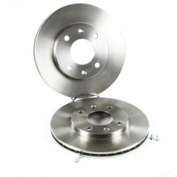 Jeu de 2 disques de frein avant Peugeot : 106 , 205 , 206 , 306 , 309 , Citroen : Ax , Saxo , Xsara , Zx