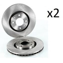 2x Disques de Frein Avant - Peugeot 1007 206 207 307 308 Partner 1.4 1.6 Bosch 0986478979 Bosch 1007