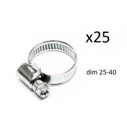 25x Colliers de Serrage Durite - diametre 25/40 CO1225040 *25 FIRST Outillage