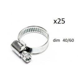 25x Colliers de Serrage Durite - diametre 40-60 CO1240060*25 FIRST Outillage