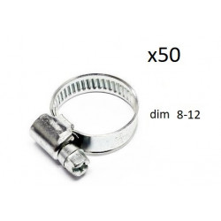 50x Colliers de Serrage Durite - diametre 8-12 CO908012 *50 FIRST Outillage
