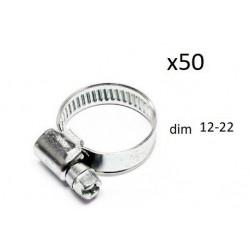 50x Colliers de Serrage Durite - diametre 12-22 CO912022 *50 FIRST Outillage