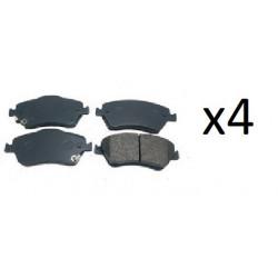 4x Plaquettes de Frein Avant - Citroen C Elysee C4 Cactus Peugeot 301 308 P1430300