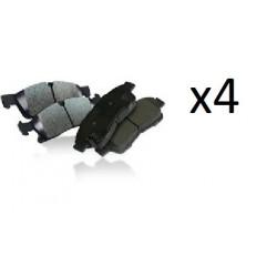 4x Plaquettes de Frein Arriere - Citroen Jumpy Fiat Scudo Peugeot Expert LP2071