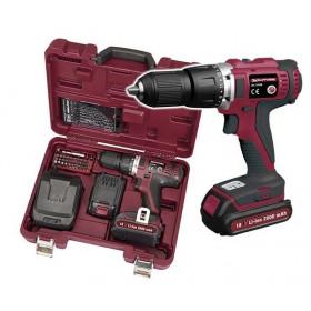 Coffret de Perceuse/Visseuse à Batterie Avec boite d'embouts universel et boîte de forets en ASR 32108