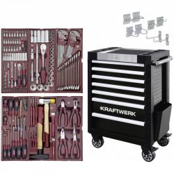 Servante d'Atelier TRIO 7 Tiroirs COMPLETO - 150 outils