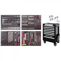 Servante d'Atelier TRIO 7 tiroirs + d'outils COMPLETO EVA - 236 pcs