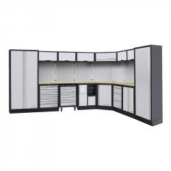 Mobilier d'Atelier Modulaire 8 Eléments avec Meuble d'Angle Bas