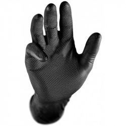 Gants Jetables en Nitrile Grippaz Noirs Taille L - 50pieces