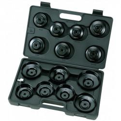 Coffret de 15 Cloches pour Filtres à Huiles - 65-100 mm