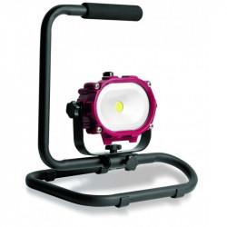 Spot industriel accu à LED COB 10W 400 LUX avec socle métallique