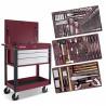 Chariot pour atelier de carrosserie - 3 tiroirs + 176 outils