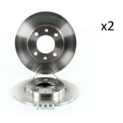 2x Disques de Frein Arriere - Citroen Saxo Xsara ZX Peugeot 106 206 306 104545249