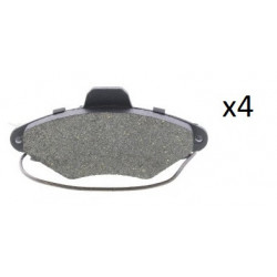 4x Plaquettes de Frein Avant - Citroen Xantia 101545099