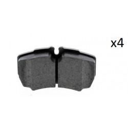 Jeu de 4 plaquettes de frein arrière Ford Transit ( MK6, MK7 ) , Iveco Daily ( III, IV, V, VI )