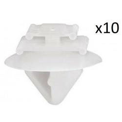 10X Fixation Moulure Porte - CITROEN PEUGEOT FIAT RENAULT vcf2545