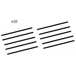 10x Lame de scie à métaux mini - 150 mm 3319