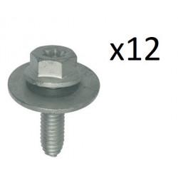 12x Vis Tete H a Embase + Rondelle - Renault 11568