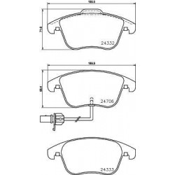 4x Plaquettes de Frein - Audi A4 A5 Q5 101444179