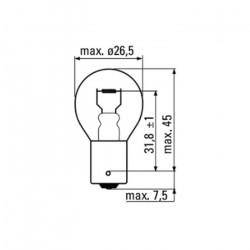 AMPOULE OBN 2 POLOS 12V 21/5W BAY15D 52367