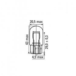 AMPOULE OBN 2POLOS 12V 21/5W S/T20 52369