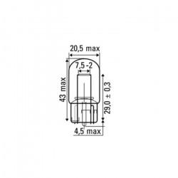 AMPOULE OBN 12V 21W S/T20A 52368