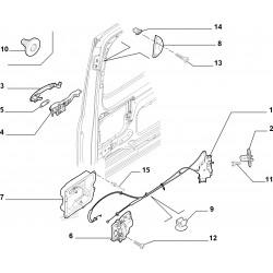 Mecanisme de Porte Laterale Droite Coulissante - Citroen Jumpy Peugeot Boxer 9138P0