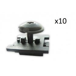 10x Clips PASSAGE DE ROUE - PEUGEOT 307 308 CITROEN C4 C5