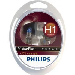 Coffret 2 Ampoules H1 - Philips VisionPlus