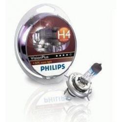 Coffret de 2 Ampoules H4 - Philips VisionPlus