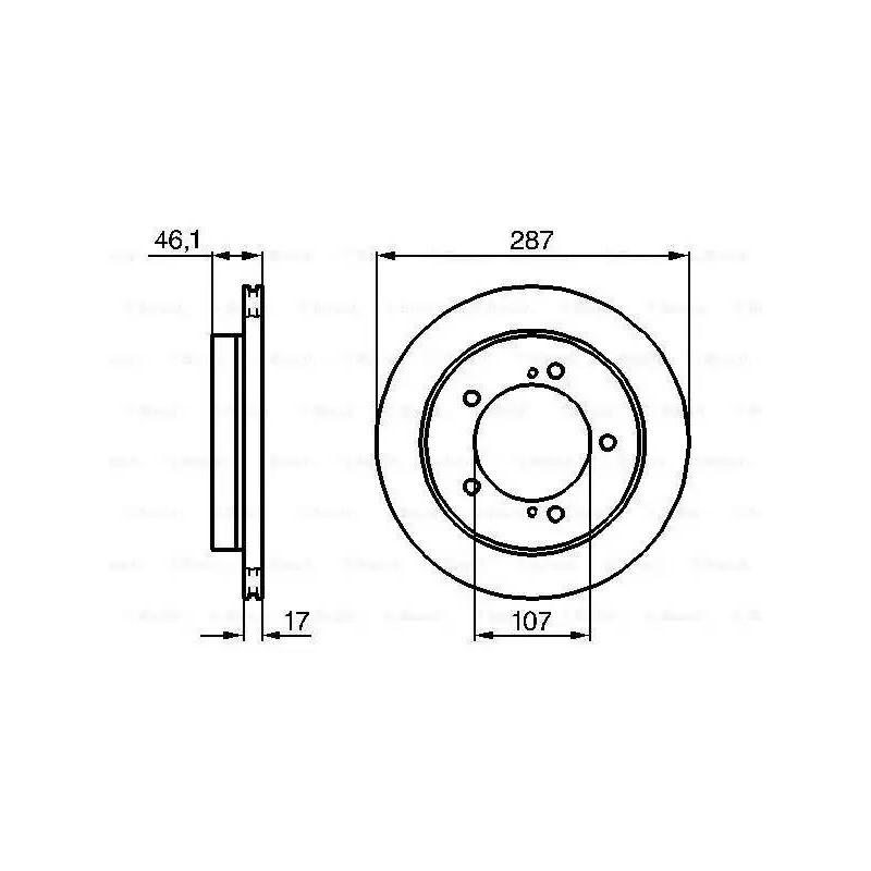Jeu Disques de Frein - Suzuki Jimny Vitara mdc1014