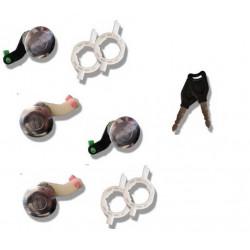 Kit 4 Serrures de Portes Avant + Arriere - Renault Master 2 Mascott Opel Movano interstar 2 clés