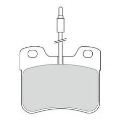Plaquette de Frein Avant - Citroen Ax saxo Peugeot 106 phase 1 et 2 6286