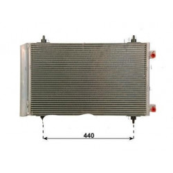 Radiateur Condenseur de Climatisation - Citroen C8 Jumpy Fiat Scudo Ulysse Lancia Phedra Peugeot 807 Expert 1.6 2.0 0803.3033