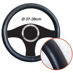 Couvre Volant Effet Cuir Noir - Diamètre 37/39cm 290